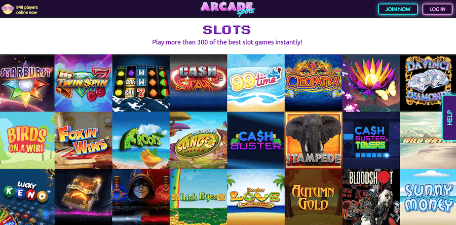 Arcade Spins: Over 300 Games