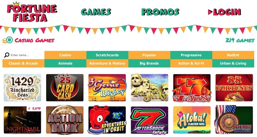 Fortune Fiesta Casino Games: Over 200 Casino Games