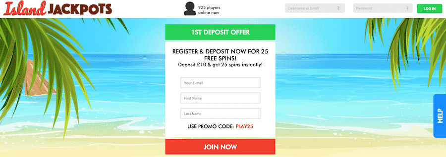 Island Jackpots: Claim Your 25 Free Spins