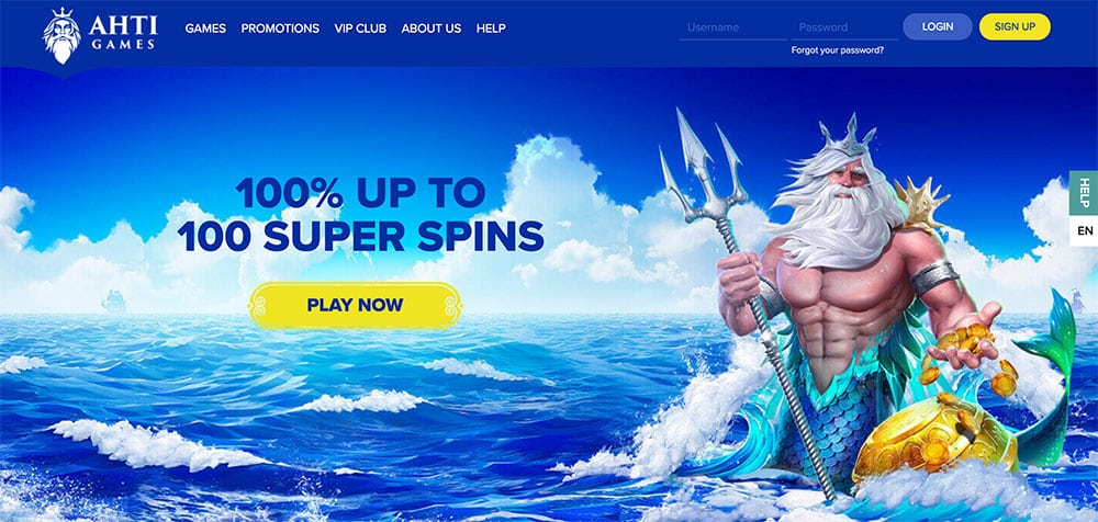 100% up to 100 super spins