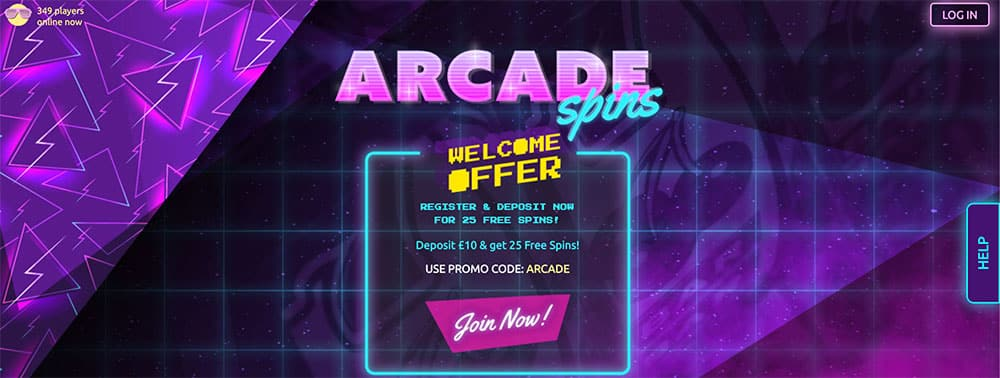 Arcade Spins Casino Bonus Codes