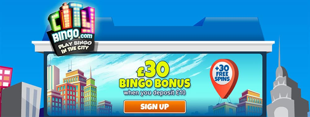 City Bingo Bonus Codes