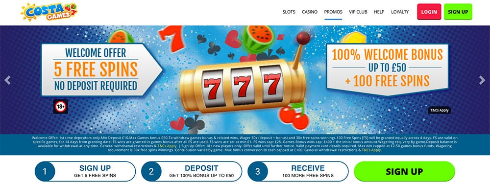 Costa Games No Deposit Bonus Codes