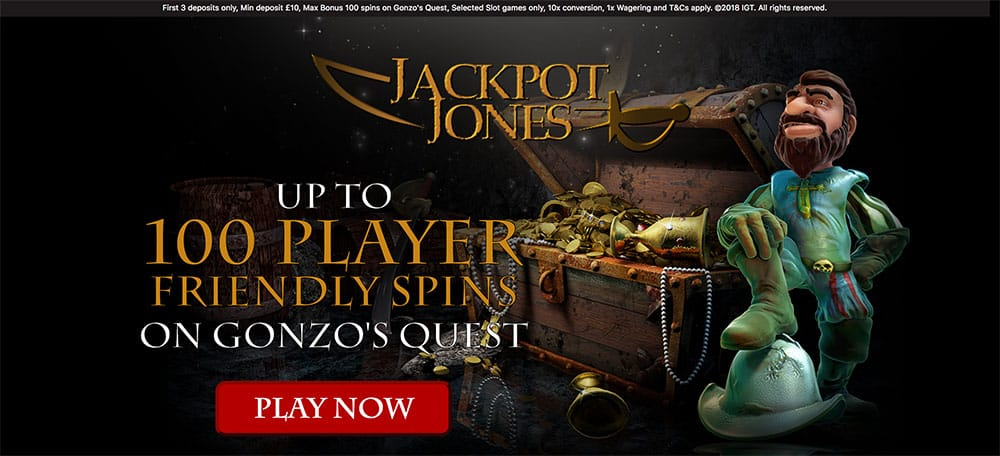 Jackpot jJones Casino: Up to 100 Player Friendly Spins