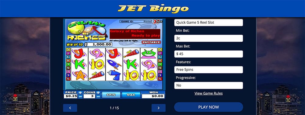 Jet Bingo Review