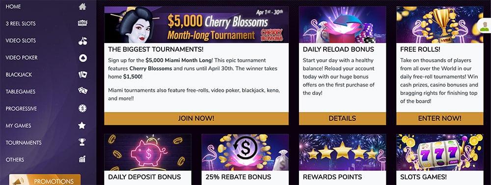 Miami club casino free chip