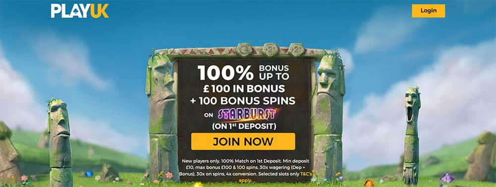 PlayUK Casino Bonus Codes