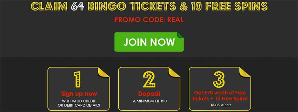 Real Deal Bingo Bonus Codes