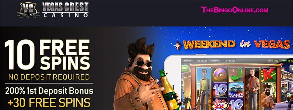 Vegas Crest Casino No Deposit Bonus Codes 2021