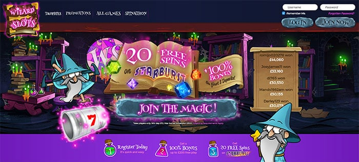 Wizard Slots Review