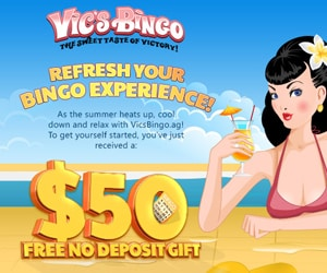 Vic's Bingo - Get $50 Free