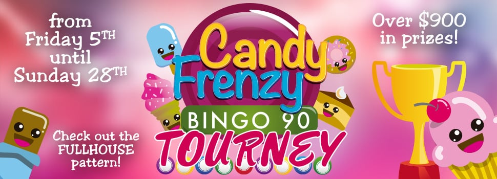 Candy Frenzy Tourney on CyberBingo.com