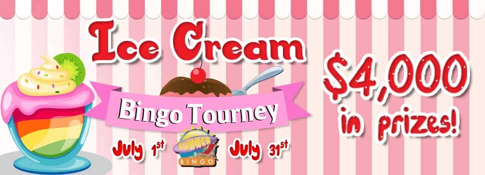 Ice-Cream Bingo Tourney on Cyber Bingo