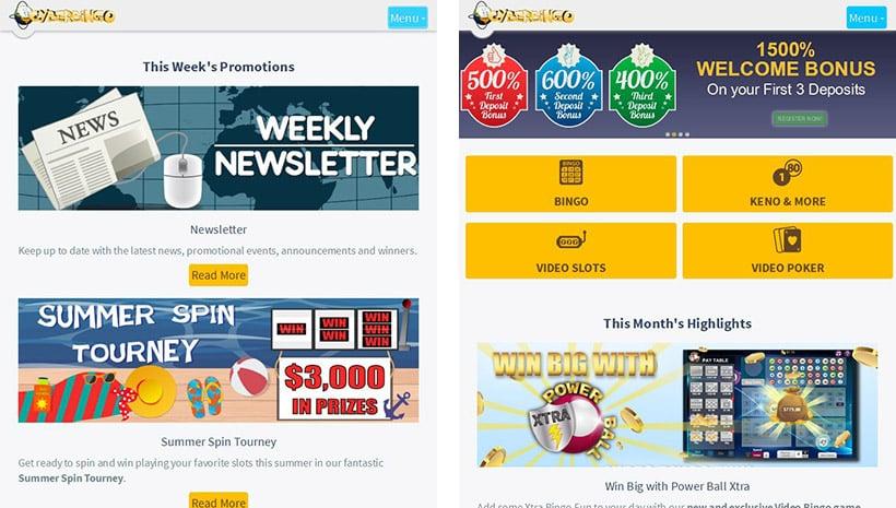 CyberBingo Promotions Mobile