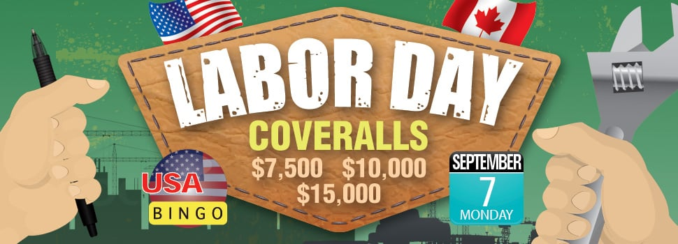 Cyber Bingo - Labor Day Coveralls Promo