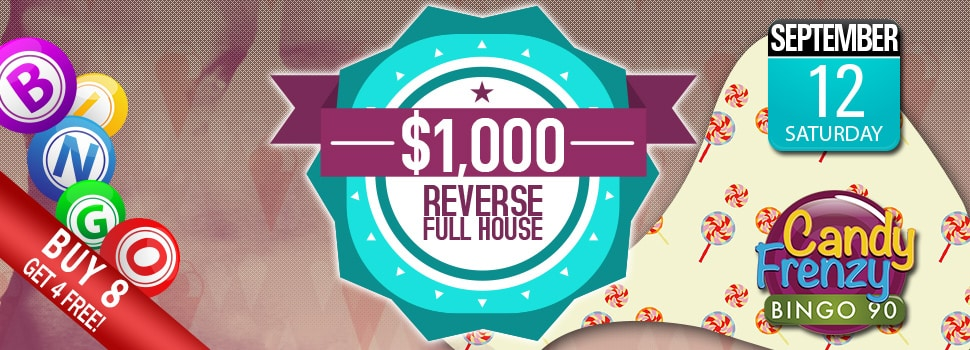 Cyber Bingo - $1,000 Reverse Full House Event