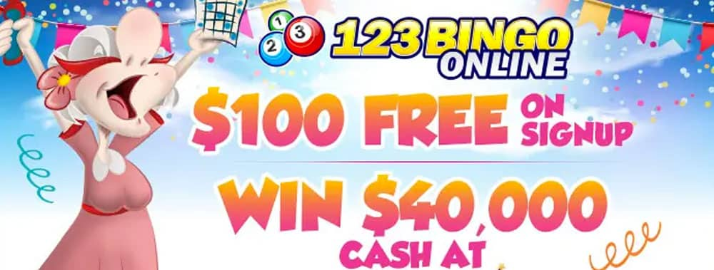 Win Cash Prizes Worth $40,000 at 123BingoOnline.com