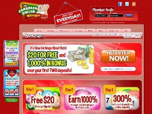 Candian Dollar Bingo Complaints