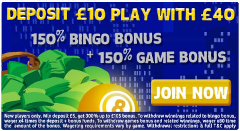 Spy Bingo gives £30 to each new player