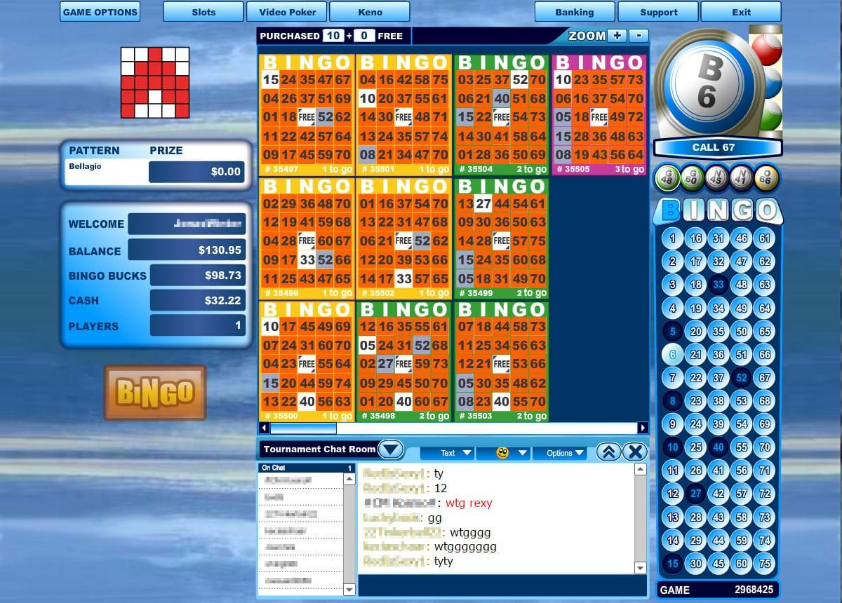 Bingo Hall Newbie Room