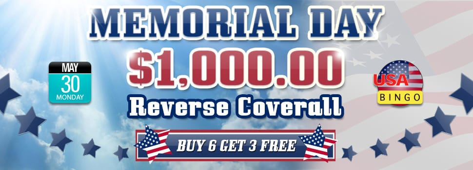 $6,000 Memorial Day Bingo Event