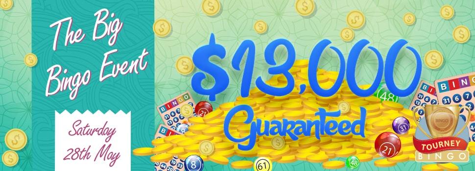 Win $13,000 at Cyber Bingo's Big Bingo Event
