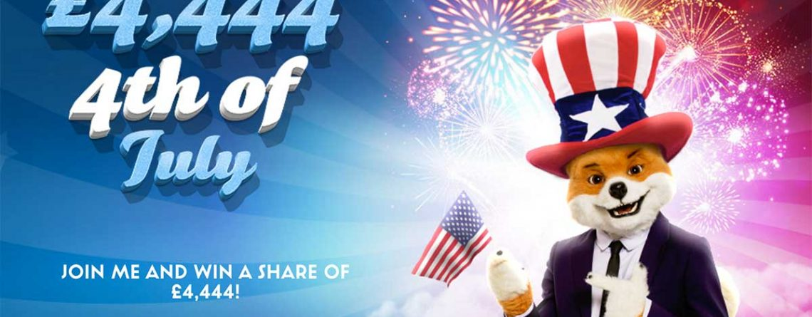 £4,444 jackpot to win at Foxy Bingo this 4th July