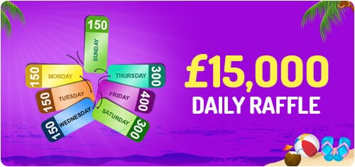 Landmark Bingo - £15,000 Daily Raffle Rewards
