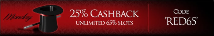 Lucky Red Casino 25% Cashback