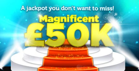Magnificent £50K at Tasty Bingo