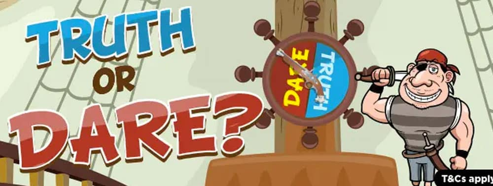 Truth or Dare for exciting bonuses with Treasure Bingo