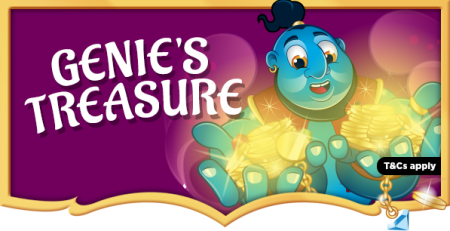 Win Genie's treasure of money with Wish Bingo