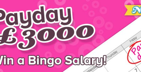 £3,000 Payday Bingo on 888 Ladies