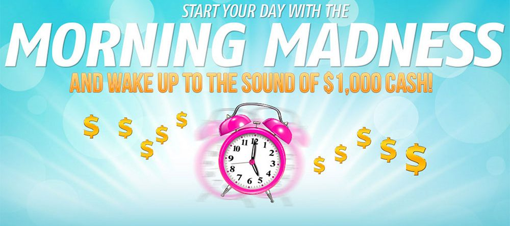 Early to rise and get $1,000 at Bingo Canada