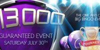Bag $13,000 Cash on Bingo Sky on July 30