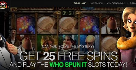 Get free 25 sign up spins with Casino Moons