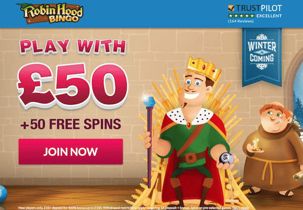 Robin Hood Bingo Bonus and Free Spins
