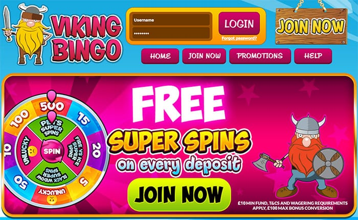 Viking Bingo: Win up to 500 Free Spins