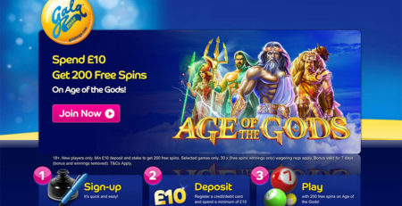 Gala Bingo: 200 Free Spins 1st Deposit Offer