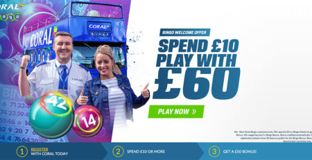 Coral Bingo Welcome Bonus of £50!
