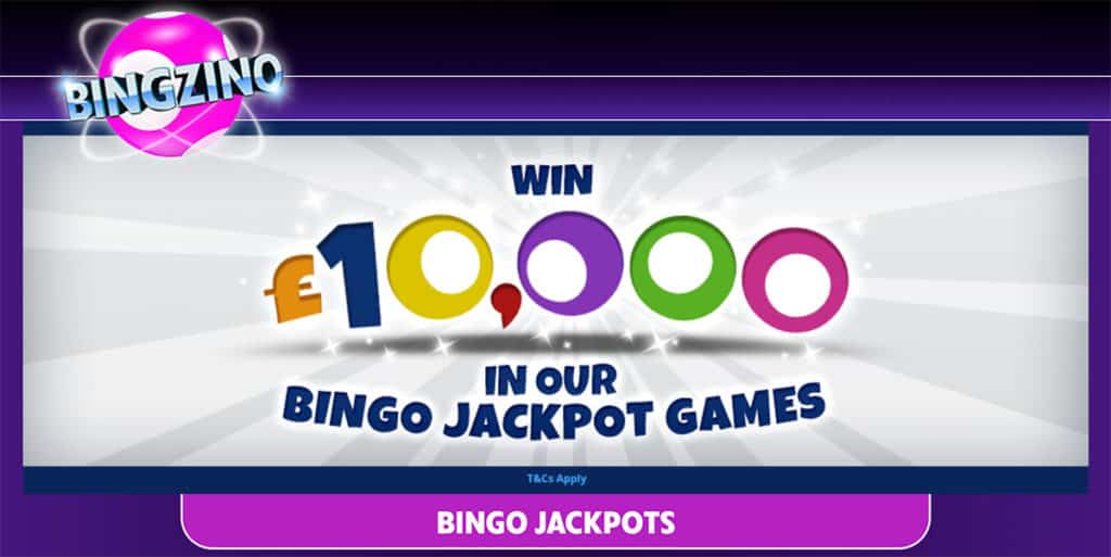 Bingzino Offers Jackpots of up to £10,000!