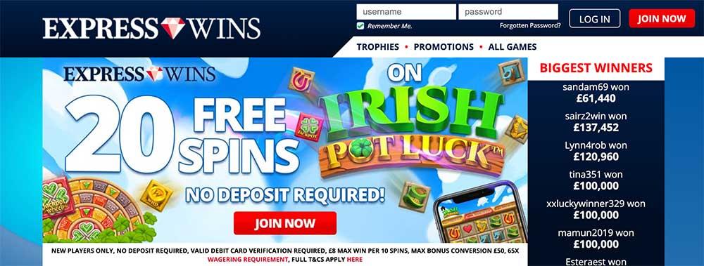 Express Wins Casino Bonus Codes